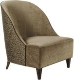 Josephine Chair upholstered in Schumacher Shockwave in Sand & Sable (see swatch below)