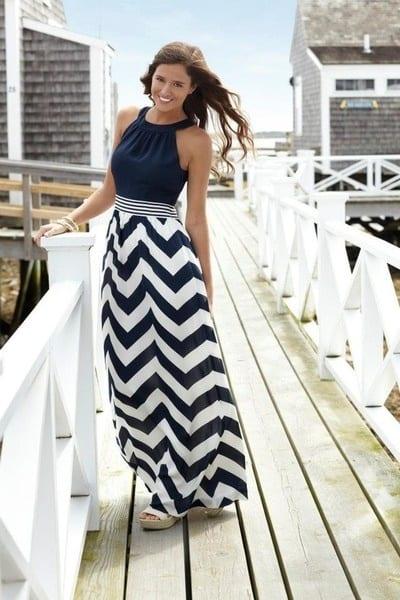 732794-Ocean+style+blue+stripes+skirt-dress