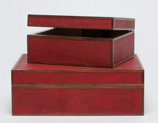 Cooper Faux Shagreen Box Please call for pricing