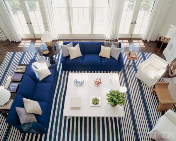Elle Decor- decorating with stripes