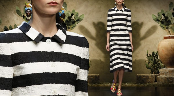 dolce-and-gabbana-runway-womenswear-striped-brocade-single-breasted-blazer-and-midi-trapeze-skirt-ss-13