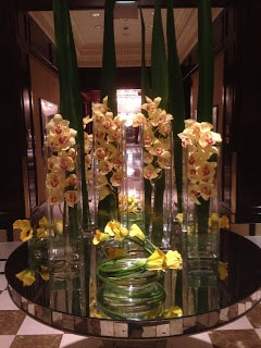 Flowers in the lobby of our hotel, The Essex House