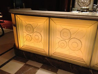 The Front Desk at the Essex House, clad in Lalique Crystal