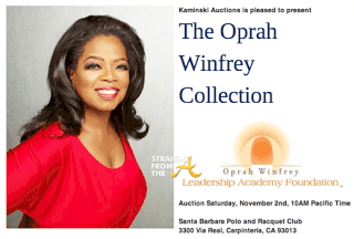 2 Catalog Cover for Oprah Winfrey Collection Auction