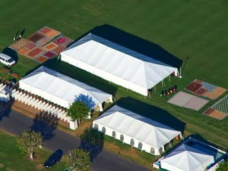 22 Tents at the Santa Barbra Polo Club