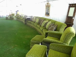 25 Pre-Auction Party-  Media room Furniture w- two 154inch long sofas