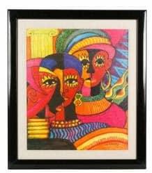33 M. Burroughs, Cubist Women, inscribed To Miss Oprah Winfrey Herself,  est 200-400, sold 13K