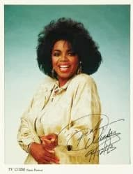 39 Print of TV Guide Cover from 1987, print, autographed by Oprah Winfrey  sold or $3K