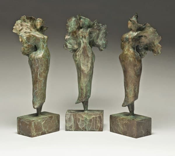 Bronze Angels 8in.H