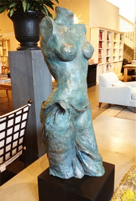Bronze on view at Cabana Home- Mill Valley