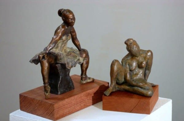 Dancer with Attitude,and Seated Nude. Bronze
