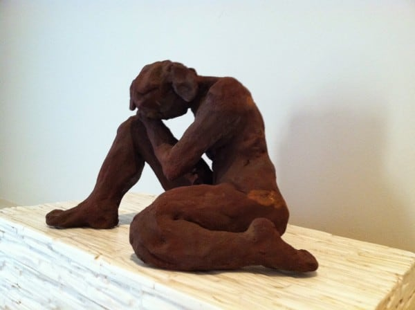 Seated Nude, Clay. Sold