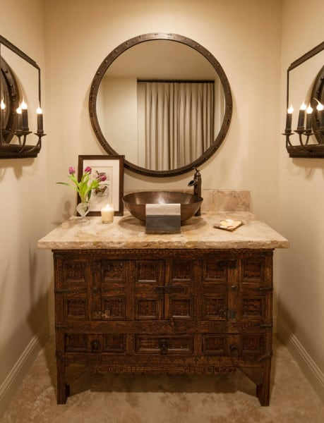 Powder Room - Santa Maria, CA Estate - Designed by Cabana Home