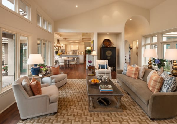 Living Room- Santa Maria, CA Estate - Designed by Cabana Home