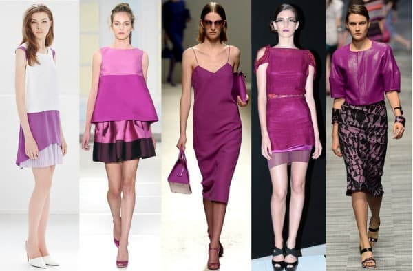 Radiant Orchid on the runway and in the street