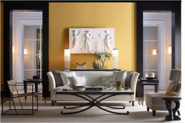 Transitional Living room by Jacques Garcia