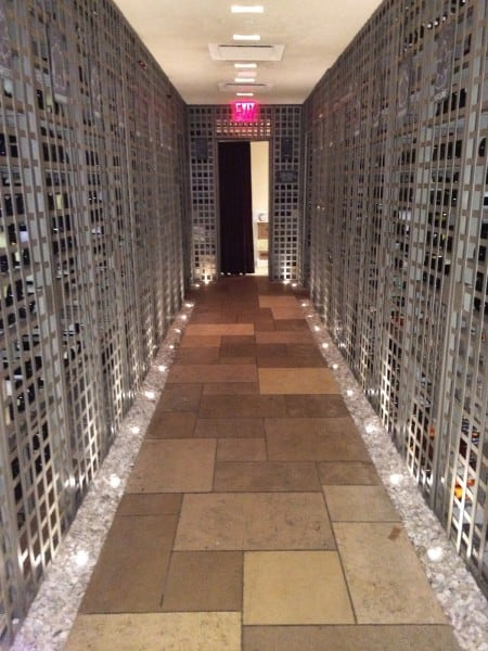 The wine cellar at Boulud Sud