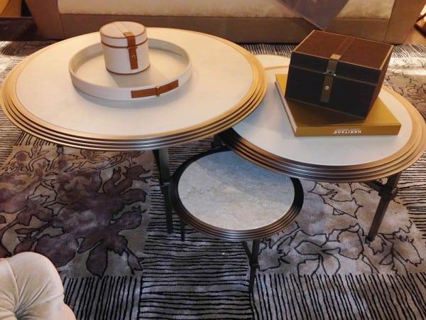 Multiple Cocktail Tables at Fendi Casa
