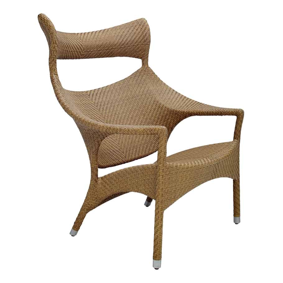 Amari high back lounge chair 4 finishes available for Janus et cie