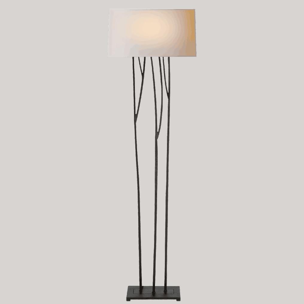 Blackened Rust Twig Floor Lamp Cabana Home