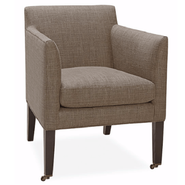 sc 1 st  Cabana Home & LEE Upholstered Library Chair on Casters | Cabana Home