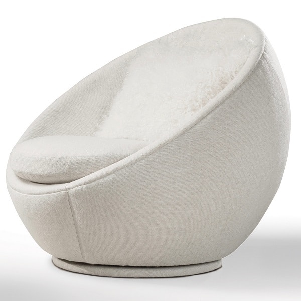 Milo Baughman Good Egg Swivel Chair Cabana Home