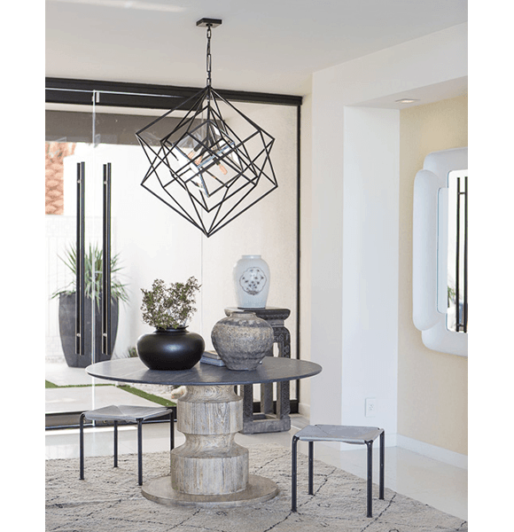 2 Canadian design firm 31 Westgate used a Kelly Wearstler chandelier in the entry