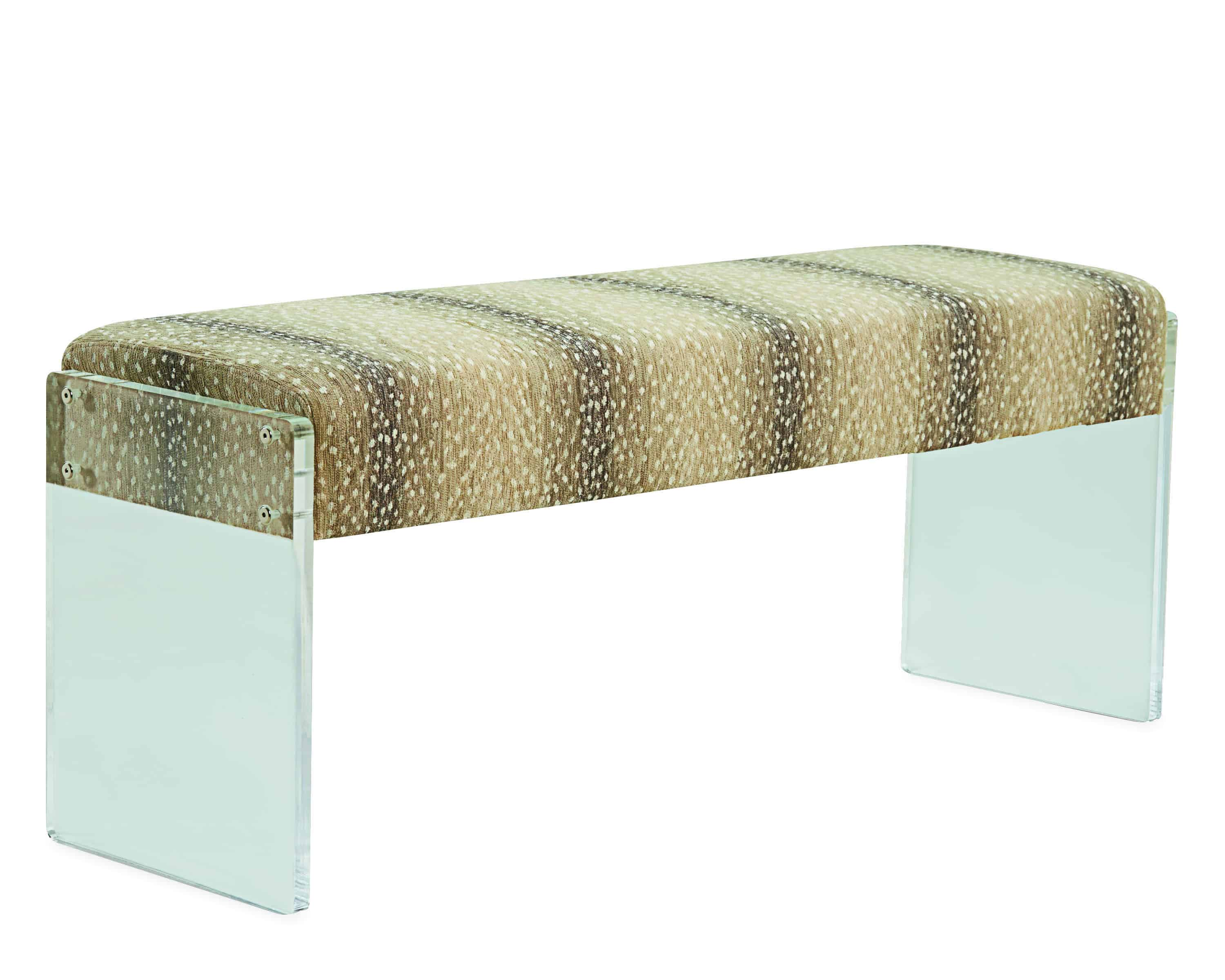 LEE Acrylic Antelope Printed Bench