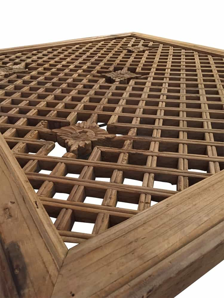 Asian Grate Top Coffee Table Cabana Home