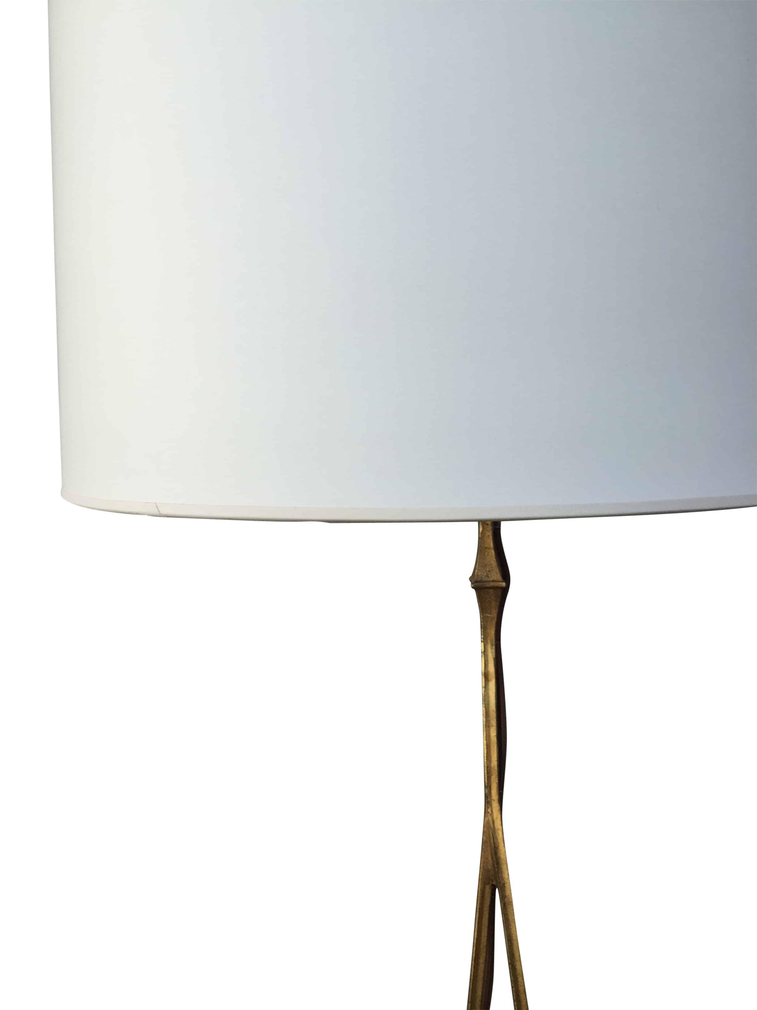 Gilded Iron Floor Lamp Cabana Home