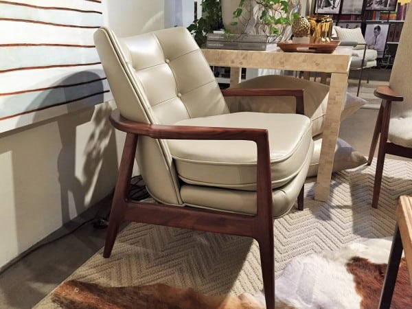 Milo Baughman chair with bone table