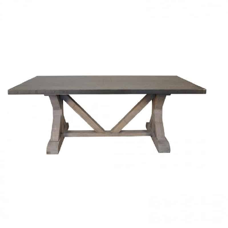 Zinc Top Dining Table Rectangle
