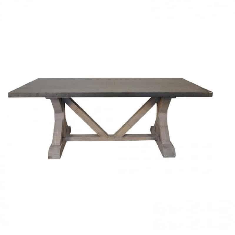 Marvelous Metal Top Dining Table Part - 12: Shop. Shop Zinc Top Dining Table ...