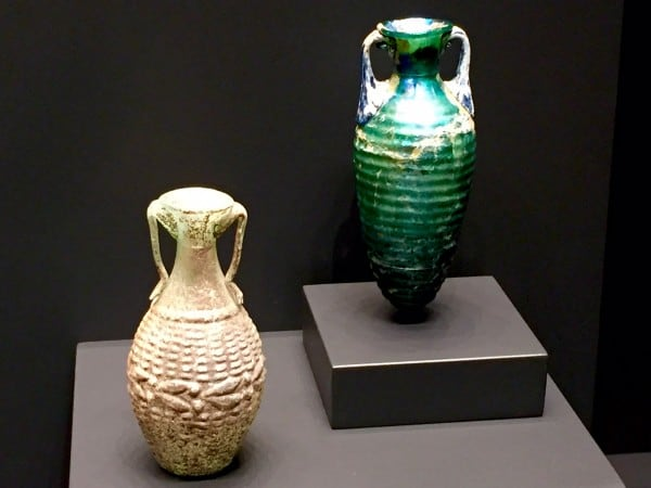 Etruscan glass vase