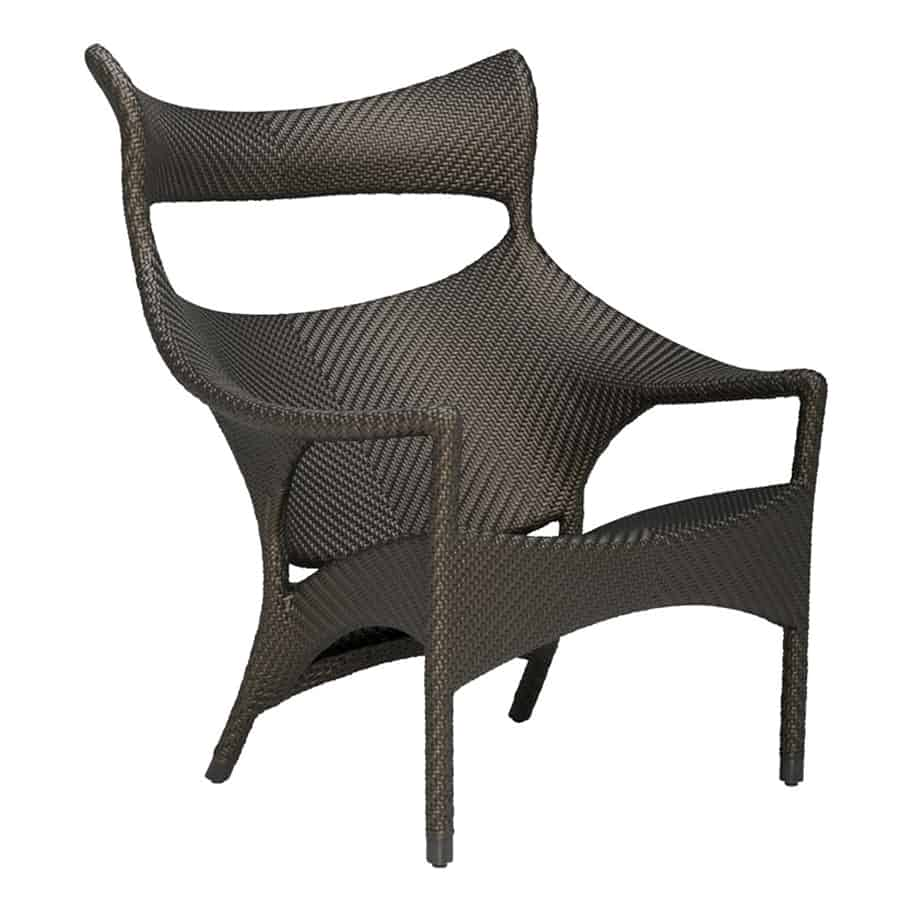 Amari High Back Lounge Chair – Bronze