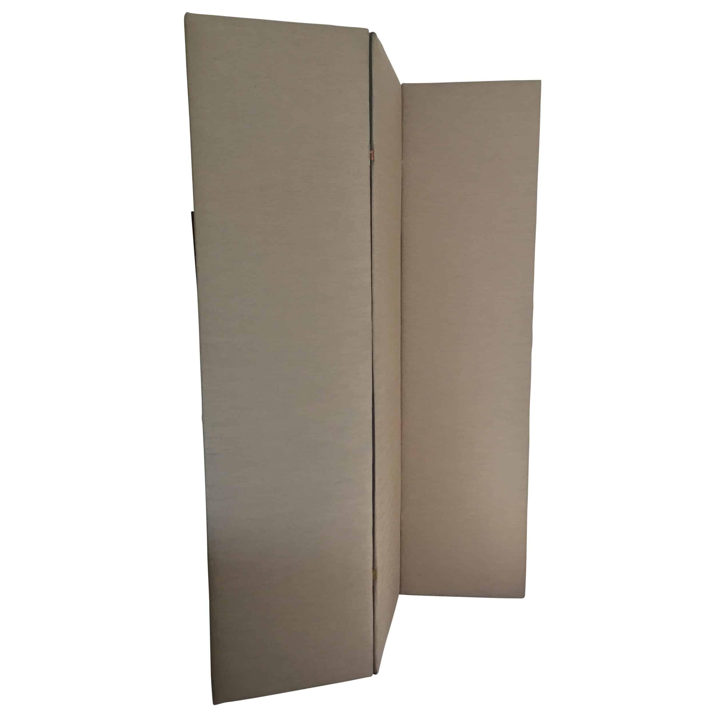 3 Paneled Upholstered Floor ScreenRoom Divider Cabana Home