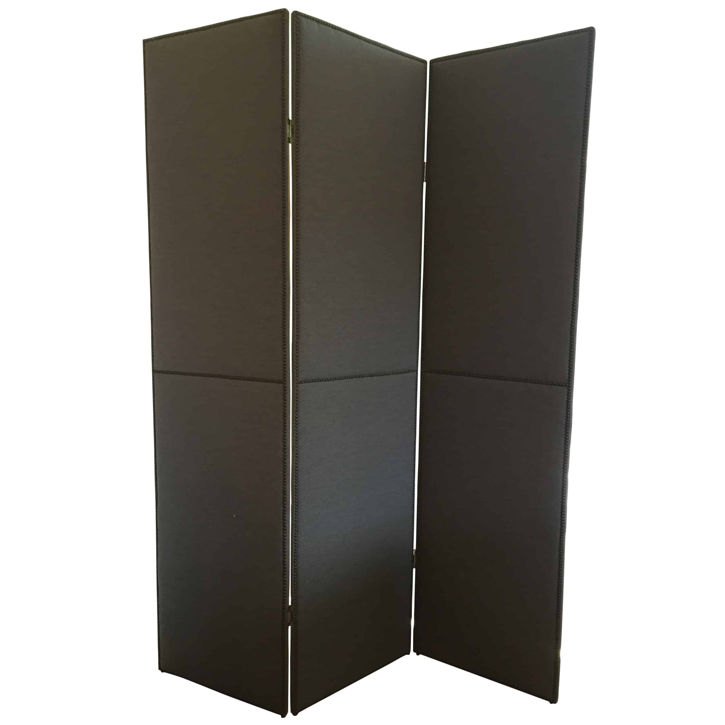 3 Paneled Upholstered Floor Screen Room Divider Cabana Home