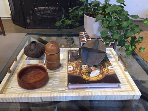 Coffee table accessorizing