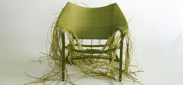 an Amari hand woven lounge chair