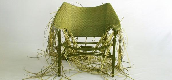 an Amari hand woven lounge chair