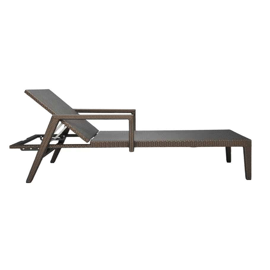 Quinta fully woven chaise lounge w arms bronze cabana home for Bronze chaise lounge