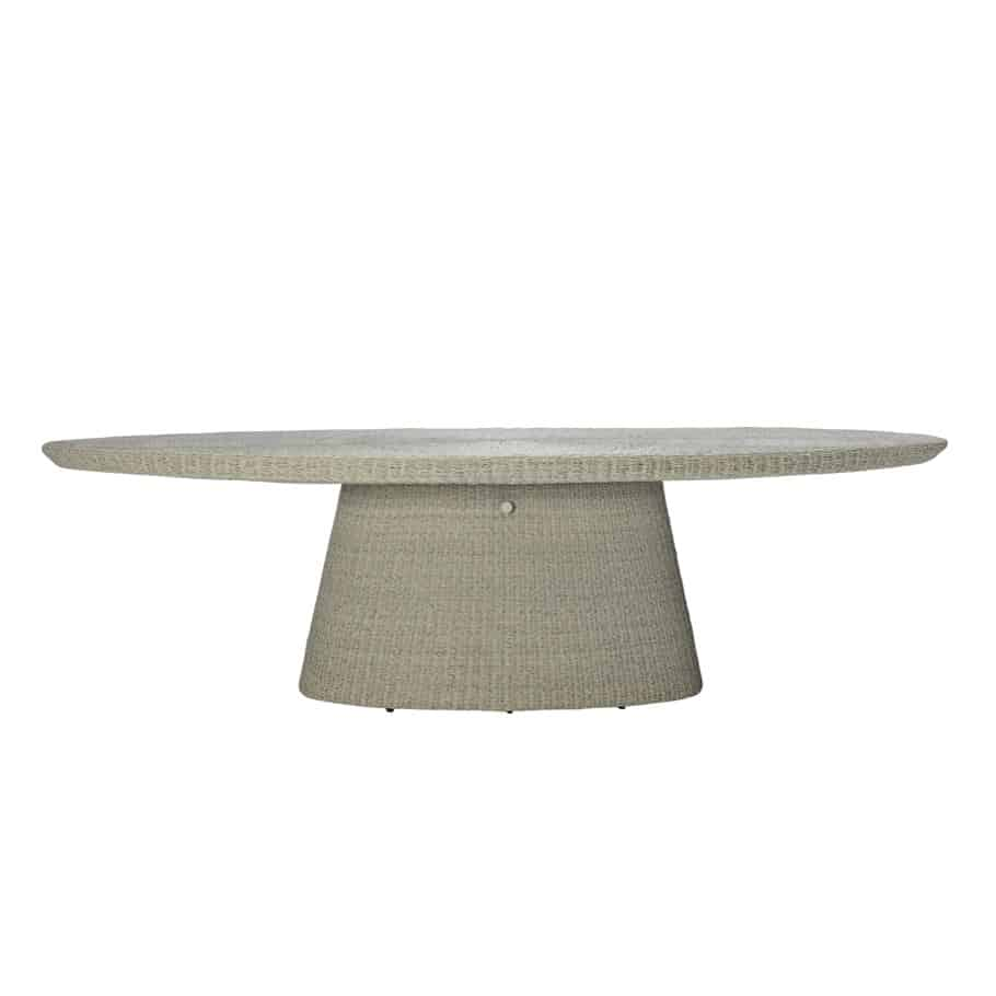 Strada Floating Glass Top Oval Dining Table – Dapple
