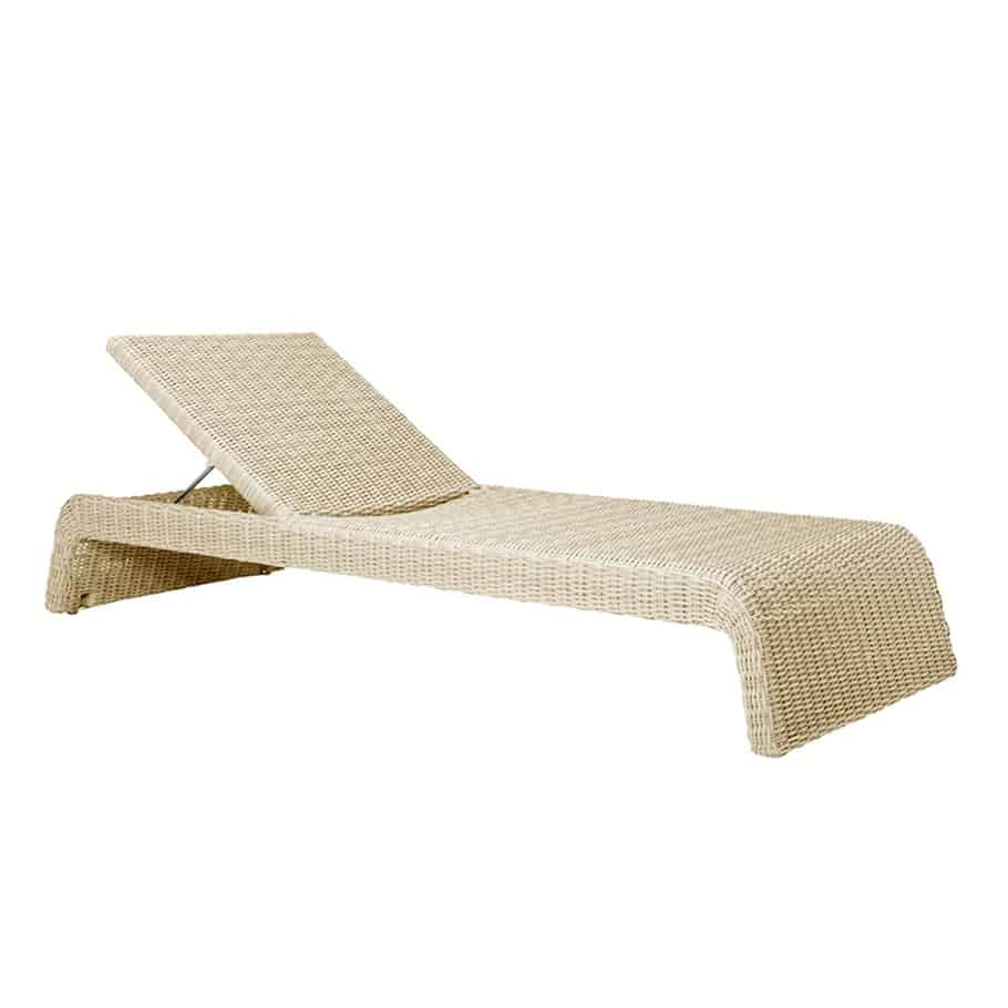 Zeya adjustable chaise lounge carrara white cabana home for Cabana chaise lounge