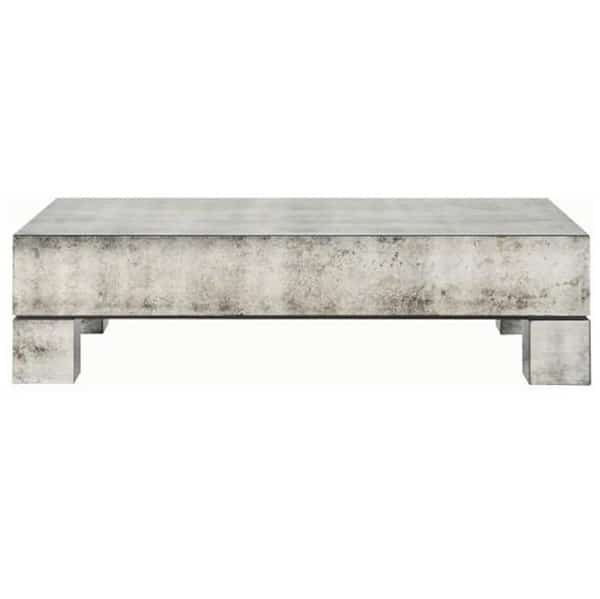 Vedel Industrial Loft Zinc Wood Rectangle Coffee Table: Estelle Rectangular Cocktail Table