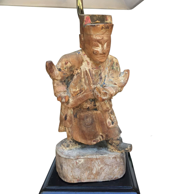 Antique Asian Figurine Lamp Cabana Home