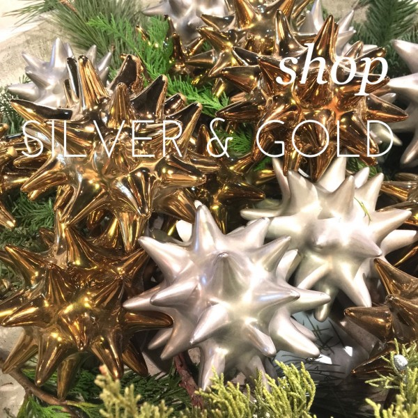 silver and gold decorative objects