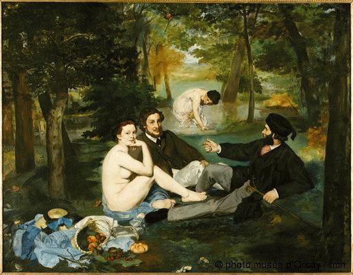 Edouard Manet, Le dejeuner sur l'herbe, 1863,