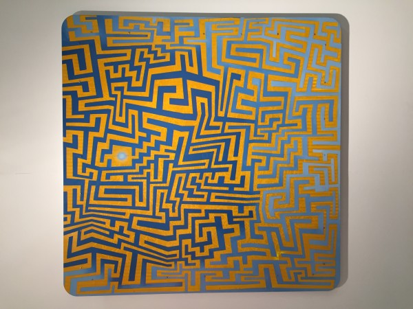 Michael McCall, In & Out, enamel on aluminum