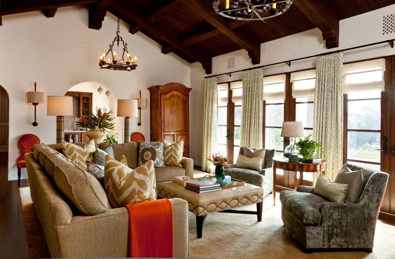 Andalusian Style Montecito Residence Cabana Home