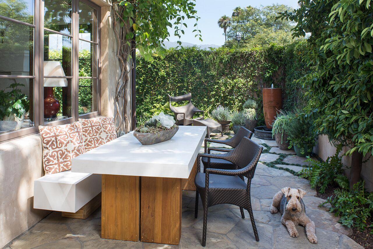 eclectic outdoor furniture. Santa Barbara Eclectic Townhouse Outdoor Furniture R